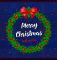 merry christmas and happy new year card holidays vector image vector image