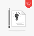 Note the idea concept icon Flat design gray color vector image