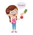 of kid give thanks vector image
