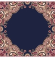 Ornamental floral pattern with place for your vector image vector image