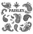 paisley motifs ink pen set vector image vector image