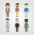 people - men vector image vector image