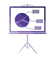 presentation stand icon vector image vector image