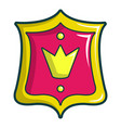 princess emblem icon cartoon style vector image vector image