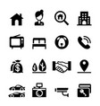 real estate icon set vector image vector image