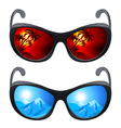 Realistic sunglasses vector image vector image