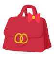 red lady handbag icon cartoon style vector image