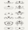 Royal Crown Calligraphy vector image