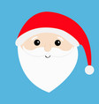 santa claus head face big beard moustaches white