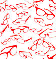 Seamless Red Spectacle Pattern vector image vector image
