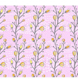 Seamless spring pattern with the branch of a vector image vector image