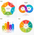 set of infographic templates with 5 options vector image vector image