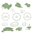 Set of natural organic eco badges and labels vector image vector image