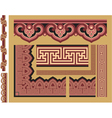 Set of Oriental Borders and Frames vector image