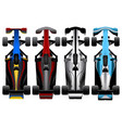 set of racing cars vector image vector image