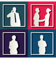 silhouette people business concept vector image vector image