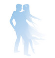 silhouettes couple dancers holding each vector image