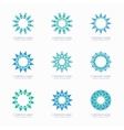 Simple blue geometric abstract symmetric shapes vector image vector image