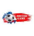soccer game team club football ball icon vector image vector image