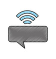 speech bubble message with wifi signal vector image vector image