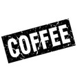 square grunge black coffee stamp vector image vector image