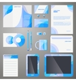 Stylish company brand design template vector image