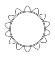 sunflower flower plant design vector image vector image