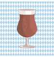 tulip glass of beer transparent cup on leg vector image