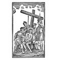 vintage antique religious allegorical biblical vector image vector image