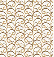 vintage gold scroll pattern on white background vector image
