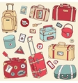 Vintage suitcases set Travel vector image vector image