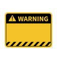 warning sign blank warning sign vector image vector image