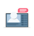 webinar icon online training vector image