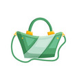 woman shoulder bag vector image vector image
