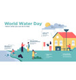 world water day infographic for people education vector image vector image