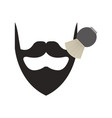 barbershop brush with bearb vector image