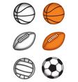 ball set vector image