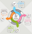 Step arrow circle infographics template vector image