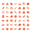 49 slice icons vector image vector image