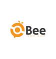 abstract bee logo design template bee logo icon vector image vector image