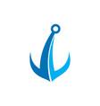 anchor abstract logo icon concept vector image vector image