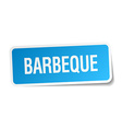 barbeque blue square sticker isolated on white vector image vector image