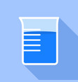 beaker icon flat style vector image vector image