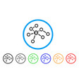 bitcoin network nodes rounded icon vector image vector image