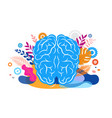brain mind and mindfulness concept vector image