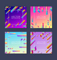 bright abstract placard design template - set of 4 vector image vector image