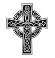 celtic style cross tattoo vector image