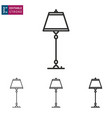 chandelier line icon on white background editable vector image vector image
