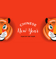 chinese new year 2022 year of the tiger vector image