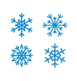 Christmas snowflakes isolated set vector image vector image